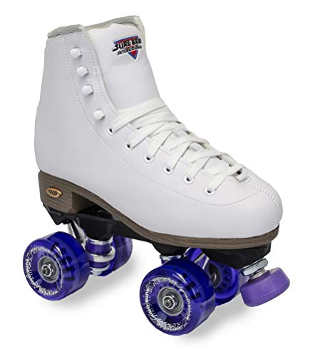 Sure-Grip Fame White (Womens) Outdoor Roller Skate Purple Motion (8)