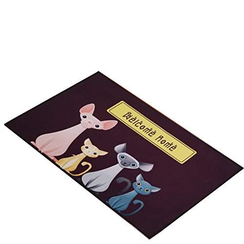 MET l'amour Mignon Dessin animé de Cuisine Salle de Bande Tapis de Chevet Creative Home Chambre à Coucher Tapis antidérapant Tapis de Dessin animé, a, 80 * 120CM