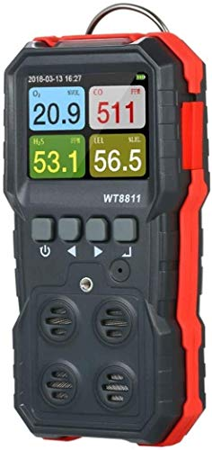 4 en 1 Compuesto digital monitor de gas de escape del gas Analizador de sensor con pantalla LCD de la alarma de grabación y probador Data Logger