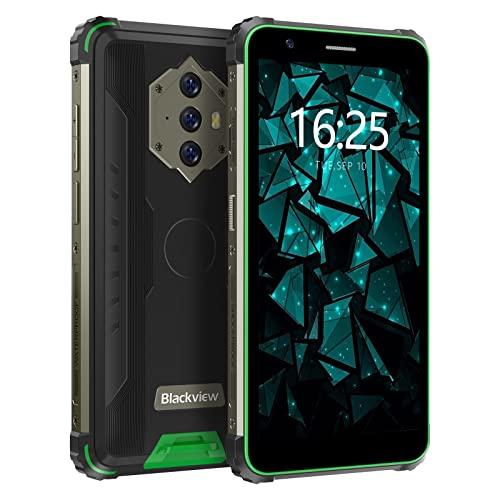 8580mAh Smartphone Incassable 4G, Blackview® BV6600E Android 11 Telephone Portable (4Go+32Go/SD 128Go, Octa-core,Triple caméra arrière 13MP, Écran 5.7'HD+, Double SIM) IP69K/OTG/2Ans de Garantie-Vert
