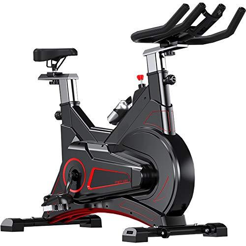 Cyclette da 40 kg (cicli da Studio Indoor) con cardiofrequenzimetro, volano bidirezionale Grande da 5 kg, Trasmissione a Cinghia, Resistenza Infinita, Display LCD, pulsazioni