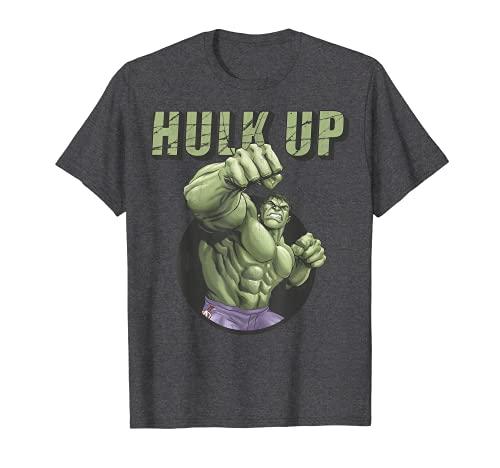 Marvel The Incredible Hulk Tough Hulk Up Bulk Up Badge Camiseta