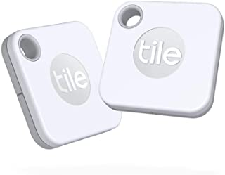 Tile Mate (2020) 2-Pack -Bluetooth Tracker, Keys Finder and Item Locator for Keys, Bags and More; Water Resistant with 1 Y...