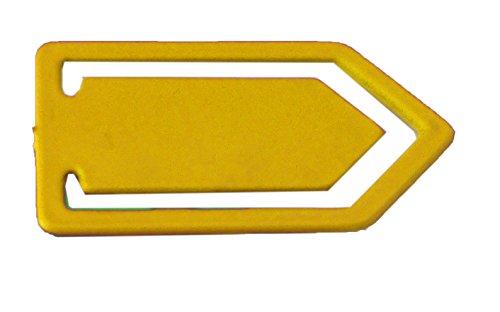 Maya Professionelles Werkzeug wclip02–4Clip metalldetektierbar Pro von Metallen, groß, 10Stück, Gelb