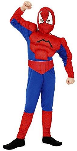 Boys Toys Disfraz de Spiderman Musculoso 3-4 años