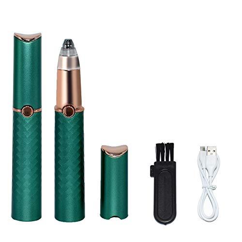 AVJONE Tondeuse à sourcils rechargeable pour sourcils, cheveux, visage, lèvres, nez, épilateur à sourcils avec lumière pour homme/femme (vert)