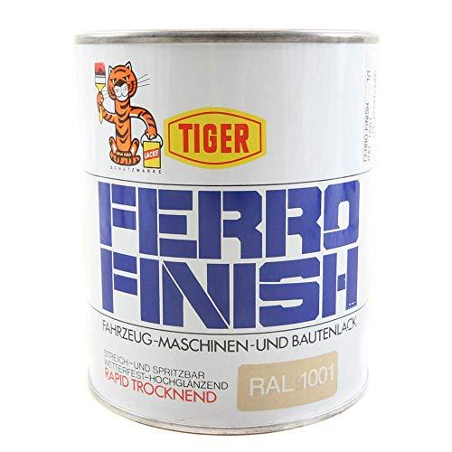 Maschinenlack Tiger Ferro Finish beige RAL1001 hochglänzend 1kg