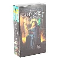 タロットデッキ、タロットカードパーティー3.9×2.4インチボードゲームカード初心者向けギフト((Goddess Tarot))