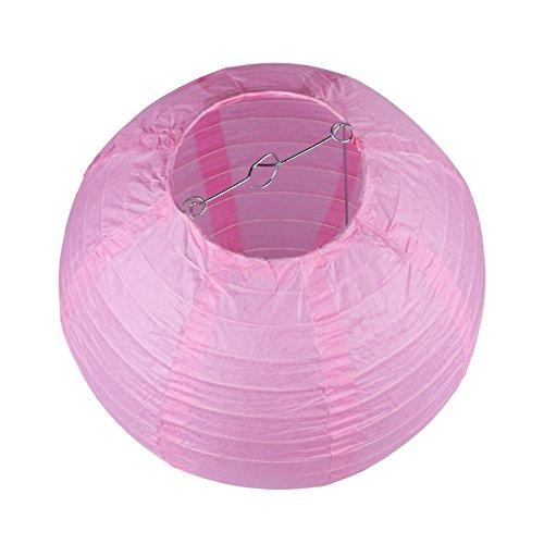 Vlovelife Lot de 10 lanternes en papier rondes blanches de 20,3 cm pour décoration de mariage, fête d'anniversaire, décoration de Noël, Papier, rose bébé, 35cm (14'')