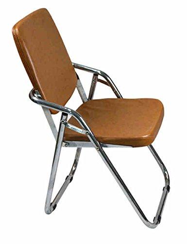 MAZHONG Tabourets Chaise pliante en acier grand dossier Chaise pliante Chaise d'ordinateur Chaise de conférence Chaise Coussin épaissi (Couleur : A)
