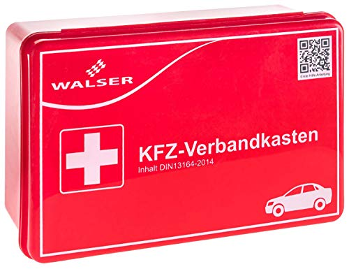 Walser 44263 KFZ Verbandskasten rot nach DIN 13164