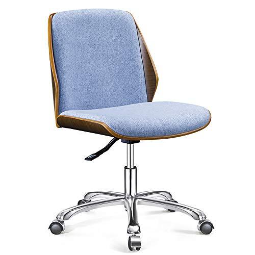 Qi Peng-//Chaise pivotante-Simple en Bois Massif étude à la Maison étude Bureau Chaise Chaise Aucun accoudoir Loisirs Personnel Chaise de Bureau Chaise d'ordinateur Chaise pivotante (Couleur : A)