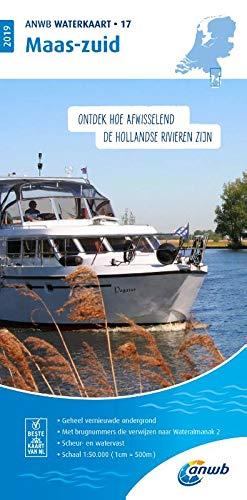 Waterkaart 17 Maas-Zuid 1:50 000 (ANWB waterkaart (17))