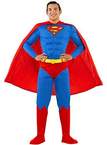Funidelia | Disfraz de Superman Oficial para Hombre Talla L Hombre de Acero, Superhelden, DC Comics, Justice League
