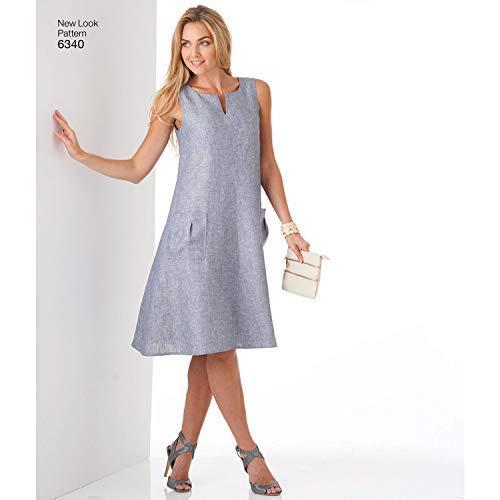 New Look 6340Größe A Misses 'Easy Kleider Schnittmuster, Mehrfarbig