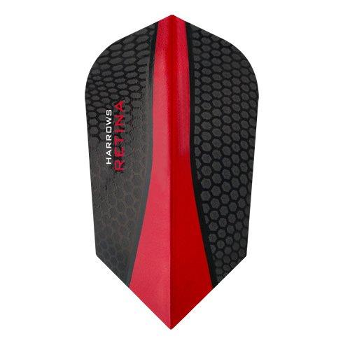 HARROWS Retina Dart Flights–5sets (15)–100micron Extra Strong–Slim–Rot