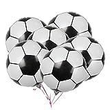 LUOEM Ballons de Football Ballons en Aluminium Mylar de Ballon d'aluminium pour la décoration de fête d'anniversaire 2018 Coupe du Monde Pack 10PCS 18 Pouces