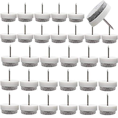 60PCS Filzgleiter mit Nagel Kunststoff,Osuter Möbelgleiter Nagel Stuhlgleiter Rutschfest für Möbel Stuhl und Tischbeine(20mm/ 24mm)
