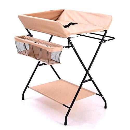 Baby draagbare verwisselbare dressoir station, Beige, opvouwbare luiertafel voor pasgeborenen, waterdicht Oxford doek