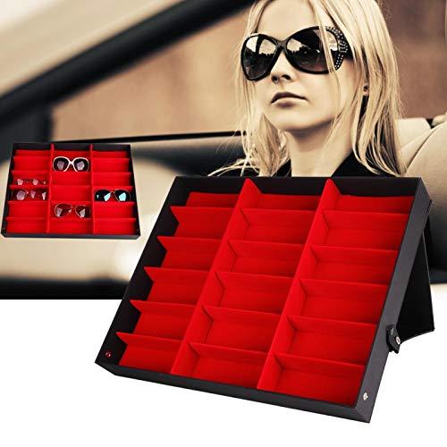 DAUERHAFT Caja organizadora de Gafas 18 Rejillas duraderas para Mostrar Gafas