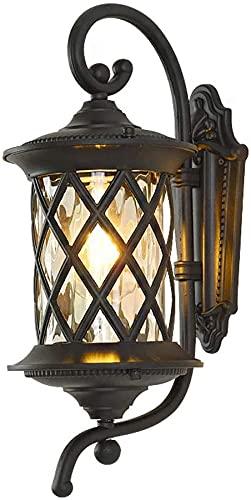 Lámpara de pared a prueba de polvo a prueba de agu Luces de pared al aire libre, luces de pared de jardín con cable vintage red eléctrica E27 impermeable impermeable Iluminación externa Iluminación de