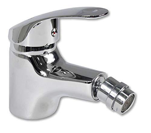 Vetrineinrete Rubinetto per bidet miscelatore monoleva regolabile acqua calda e fredda monocomando monoforo da bagno in ottone cromato lucido 52330 C10