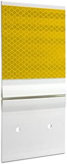 Hinged Guardrail Reflector, Double, HIP, Yellow, 4