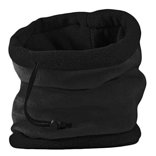 UNISEX MENS LADIES SUPER SOFT NECK WARMER GAITER HAT FOR SKI, HIKING-BLACK