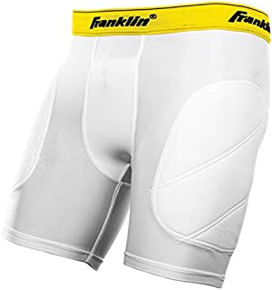 Franklin Sports Youth Baseball Sliding Shorts - Padded Slide Shorts with Cup Holder - Compression Shorts Perfect For Baseball and Softball - Small