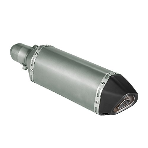 KKmoon Silenciador de Tubo de Escape 38-51mm Small Hexagon Cola Oblicua Style para Moto ATV Universal