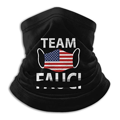 Hashtag Team Fauci - in Fauci We Trust Neck Gaiter Tube Mask Headwear, Motorcycle Face-Mask Face Scarf, Balaclava Black