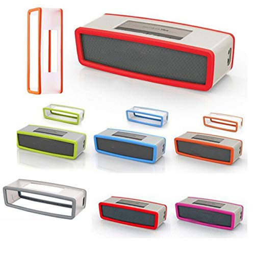 Hard Case Travel Bag and Soft Silicone Cover for Bose SoundLink Mini/Mini 2 Bluetooth Speaker Travel Box (Red)