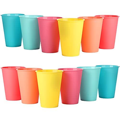 com-four® 12x Cup Set El Accesorio para Picnic, arnés de Camping, arnés de Viaje, Ahorro de Espacio e higiene para 12 Personas. (Tazas - 12 Piezas) 🔥