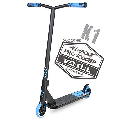 VOKUL Pro Stuntscooter BZIT K1- Roller für 7 Jahre und älter - Kinder & Teens & Erwachsene, Stunt Scooter mit 110mm PU Räder Tretroller Freestyle Roller Tricks Geschenk (Neu Blau)