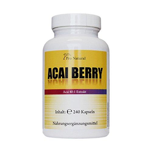 Acai Berry 24000mg mit höchstem 40:1 Extrakt – 240 Vegane Kapseln - Acai beere - Extrem hochdosiert - Hohe Wirkungskraft