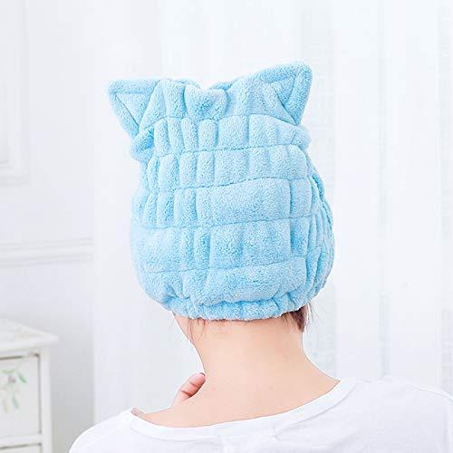 Chstarina Toalla Microfibra Pelo Rizado,Toalla Pelo Secado Rapido Algodon Toallas para Secar el Pelo Turbantes para Mujer Felpas Gorro de Ducha Coral Turbantes Bebe Niña para Viaje