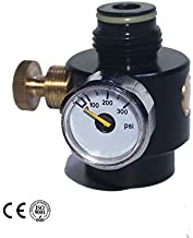 Airsoft PCP Paintball Tank Cylinder Adjustable Compressed Air Regulator Output Pressure 0.825-14NGO Thread