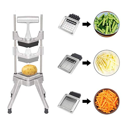 """TOPQSC Vegetable Fruit Dicer,Food Cutter,Manual Cutting Chopper Machine with 304 Stainless Steel Blades of Size 1/4"""" 1/2"""" 3/8"""" for Onion Tomato Potatoes Mushrooms,Kitchen Utensils."""