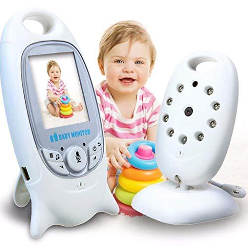 BABY MONITOR ZLMI Moniteur pour bébé Écran portatif Interphone Vocal bidirectionnel intégré 8 berceaux sans Surveillance de la température d'interférence Domaine d'application 15 à 200 mètres