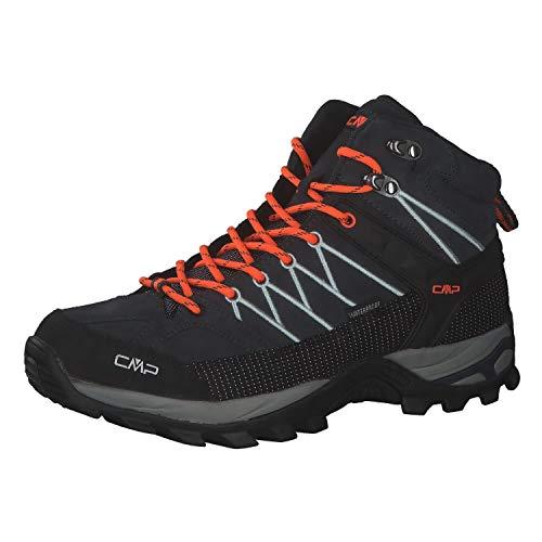 CMP Herren Trekking Schuhe Rigel MID 3Q12947 Antracite-Flash Orange 42