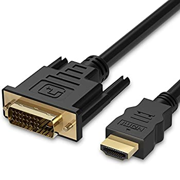 HDMI to DVI Cable  6 FT  Fosmon DVI-D to HDMI Cord Bi-Directional Gold Plated High Speed HDMI  Type A  to DVI