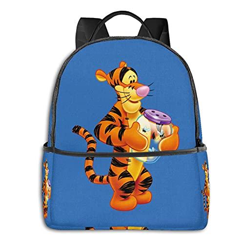 Winnie Pooh And Tigger - Mochila impermeable ligera para viajes, senderismo, trabajo y hombre