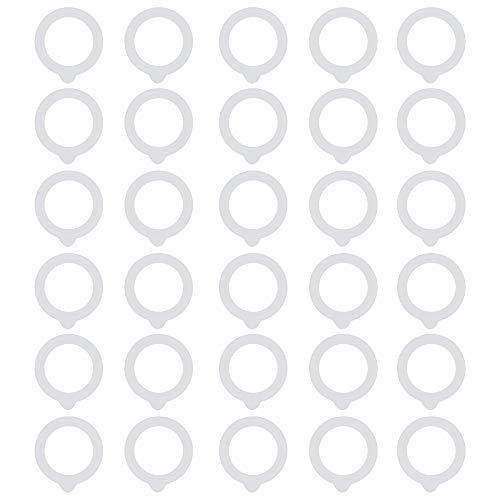 MiOYOOW Junta de goma, 30 piezas de junta tórica de goma, anillo de sellado a prueba de fugas para botellas de vidrio cafetera ollas
