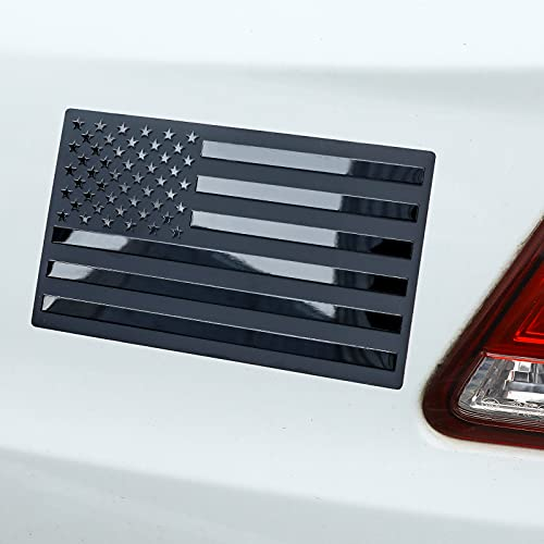6 Pieces 3D Metal American Flag Sticker Decal US American Metal Flag Emblem Sticker for Cars,Truck,SUV,Motorcycle, RV, Scooter, or Any Vehicle (Regular Orientation,5 x 3 inches)