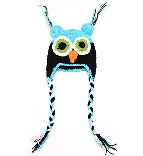 Nalmatoionme bébé filles garçons Chouette Animal Style crochet Knit Woolly capuchon