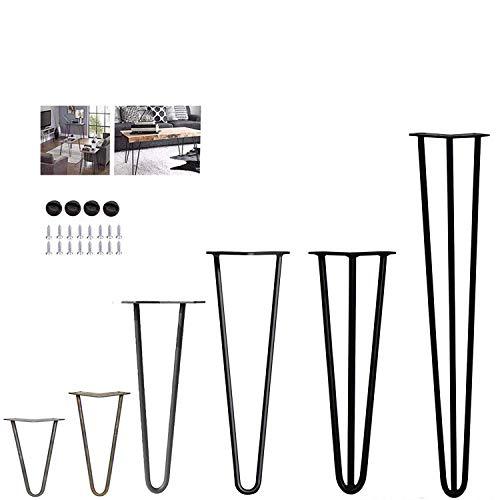 4 patas de mesa de horquilla – estable altura de mesa estándar superior doble soldadura de acero – 10 cm a 72 cm/4 pulgadas a 28 pulgadas