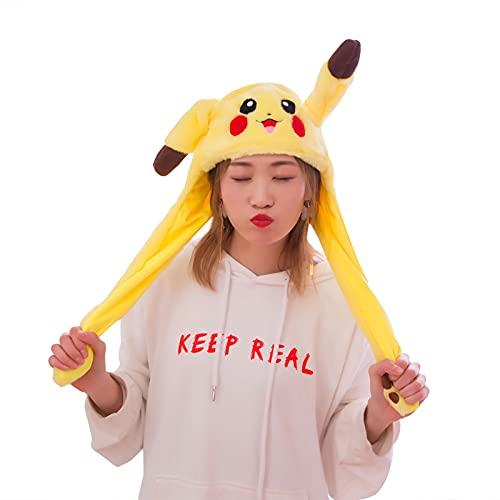 berretto orecchie mobili KEOHVEY Divertente cappello in peluche Pikachu con orecchio