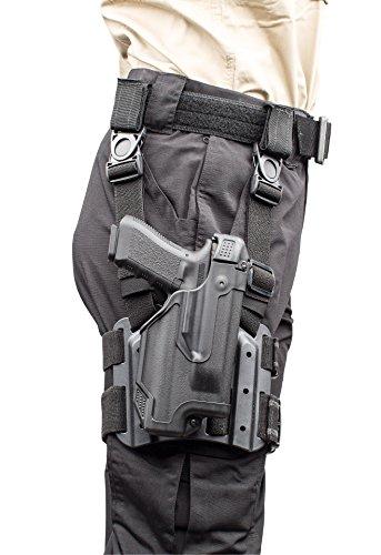 BLACKHAWK 44E600BK-R Right Hand Glock 17/22/31 Epoch Tac Level 3 Light Bearing Holster