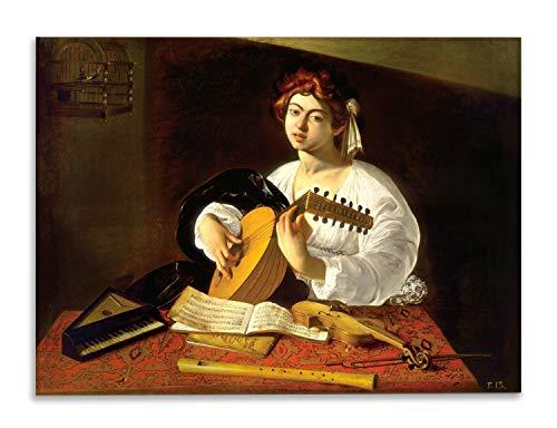 Giallobus - Schilderij - Caravaggio - Luitspeler 2 - bedrukking op plexiglas acryl - klaar om op te hangen - Diverse formaten - 140X100 cm