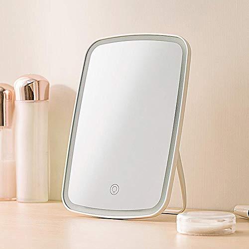 Draagbaar touchscreen USB Oplaadbare LED Verlichte make-up Cosmetische handspiegel Desktoplamp draagbaar opvouwbaar Verstelbare hoek nieuw